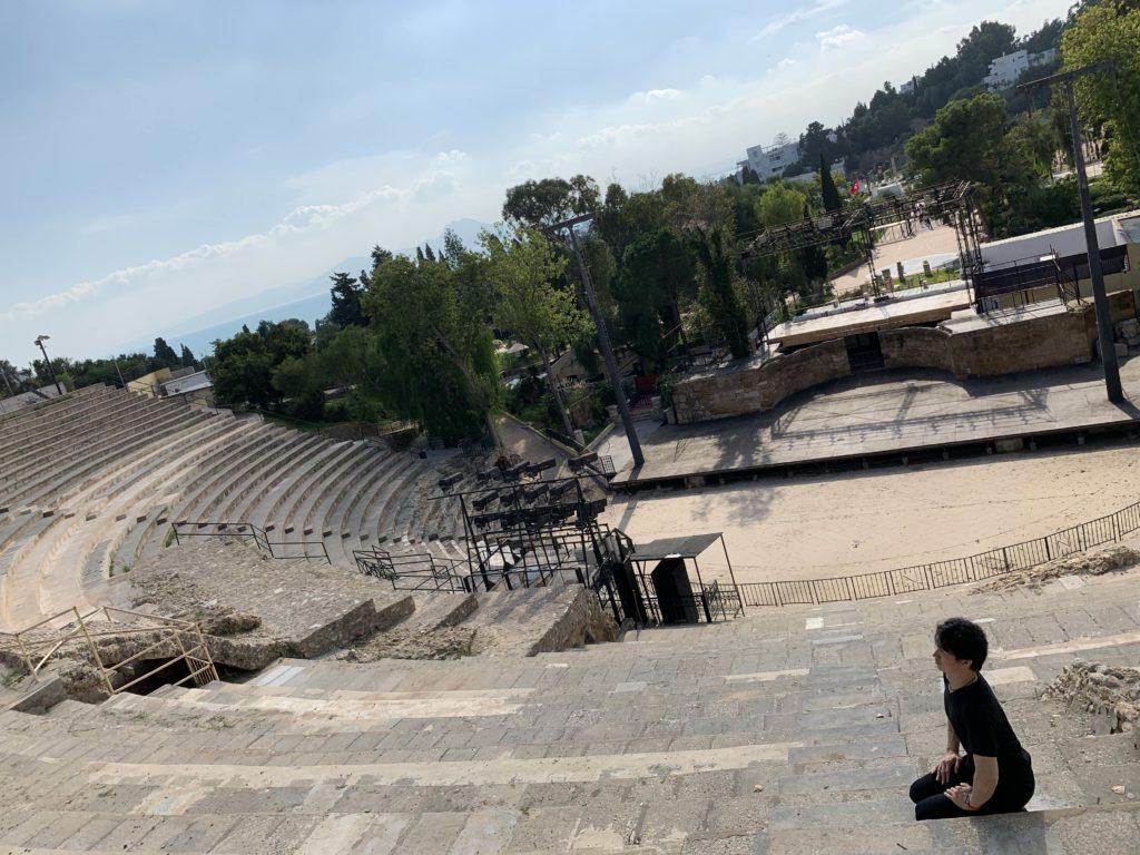 チュニジア チュニス 野外劇場にて 2019